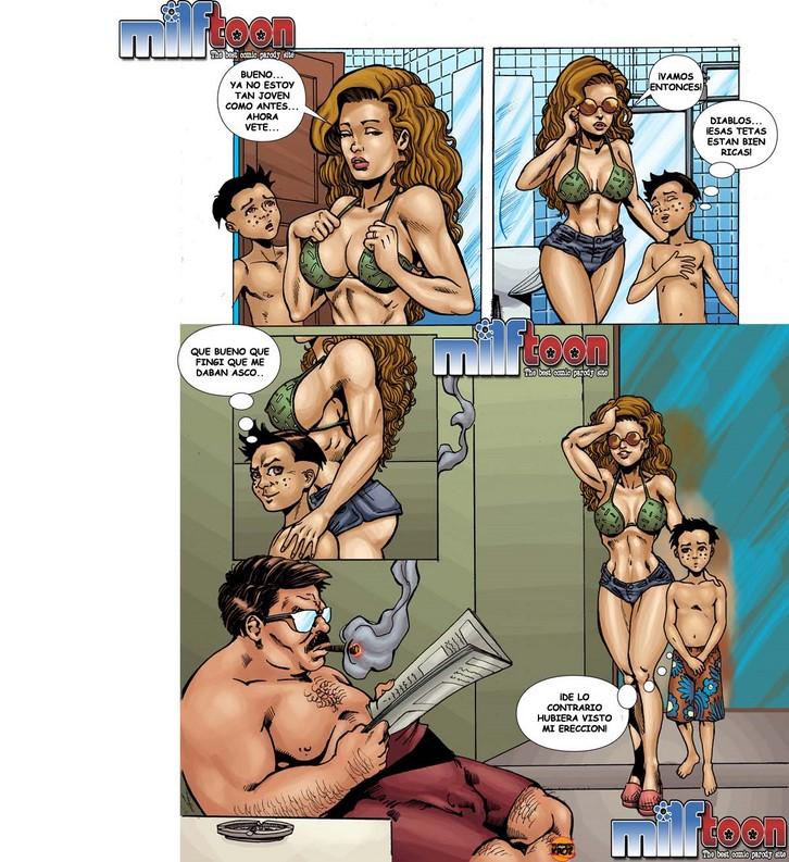 Порно комикс бассейн