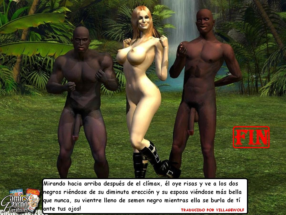 Esposa con dos negros
