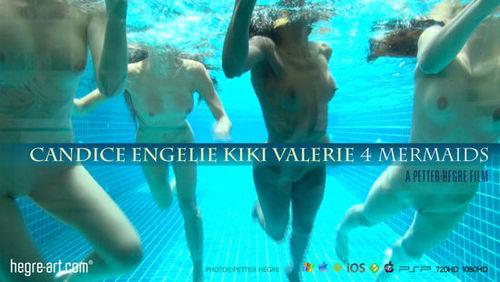Hegre -  Candice , Engelie , Kiki & Valerie - 4 Mermaids :: Issue Date : 10 Jul 2012