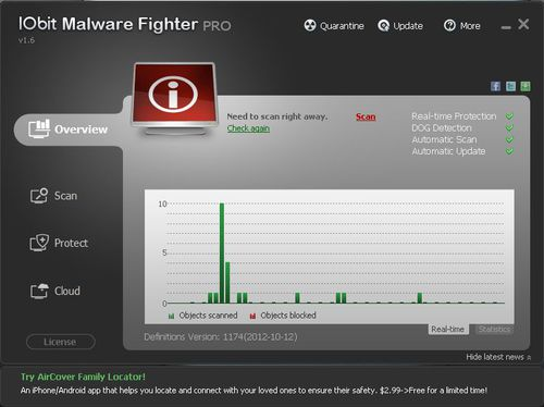 IObit Malware Fighter Pro 1.6.0.8 Final + Serial