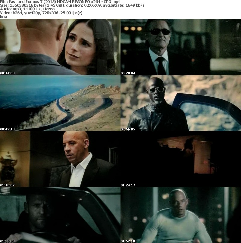 Fast and Furious 7 (2015) HDCAM READNFO x264 - CPG