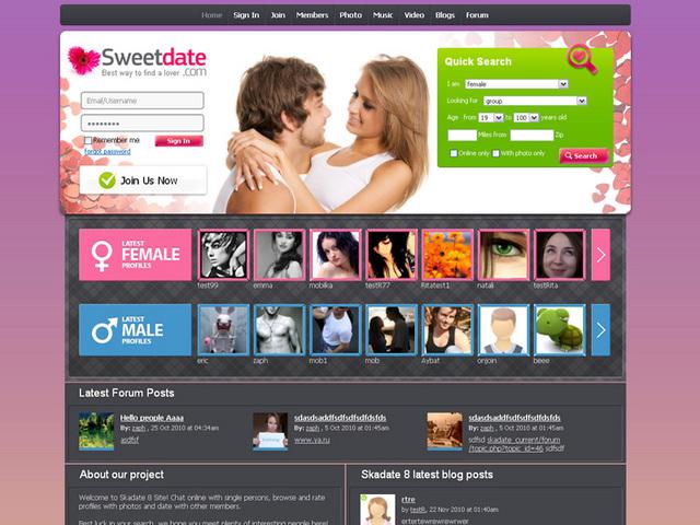 DEMO. профессиональный скрипт для создания сайта знакомств. Посетить сайт.