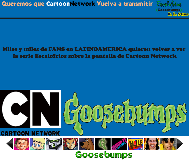 Que Cartoon Network Vuelva a Transmitir Escalofrios en Latinoamerica