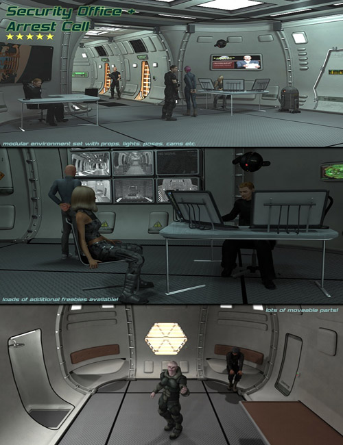 SciFi Security Office and Arrest Cell
