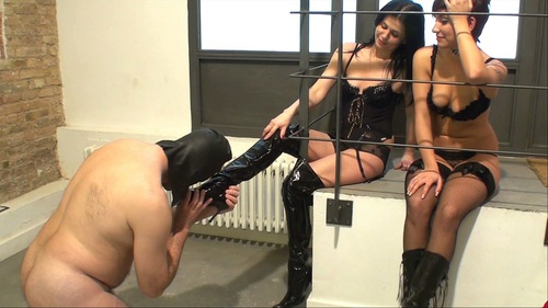 Four Boots For One Tongue Female Domination