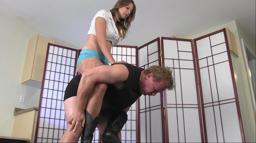 Brutally Ball Kicked Pony Female Domination
