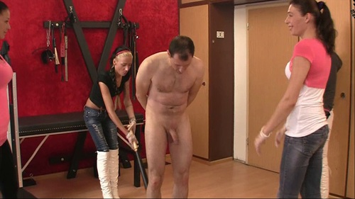 Four Brutal Girls Have No Mercy Female Domination