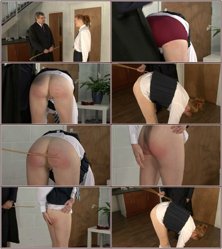 Caning of Justine  Spanking