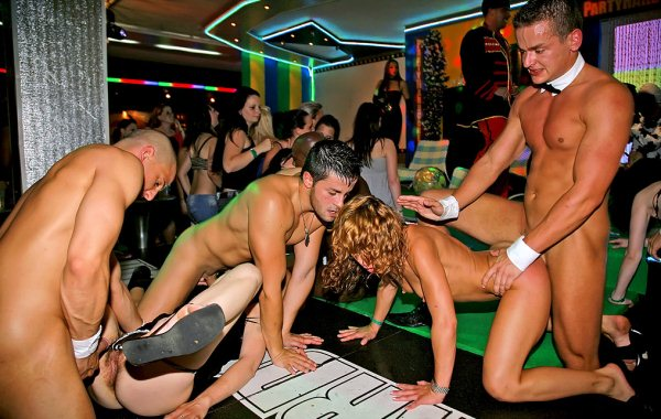 Male strippers having sex