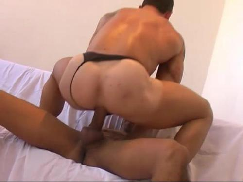 Gay Workers Ass Stretching