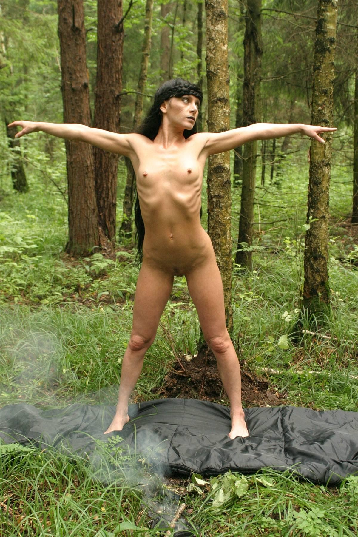 Accept. Girls tied in the woods nude was and