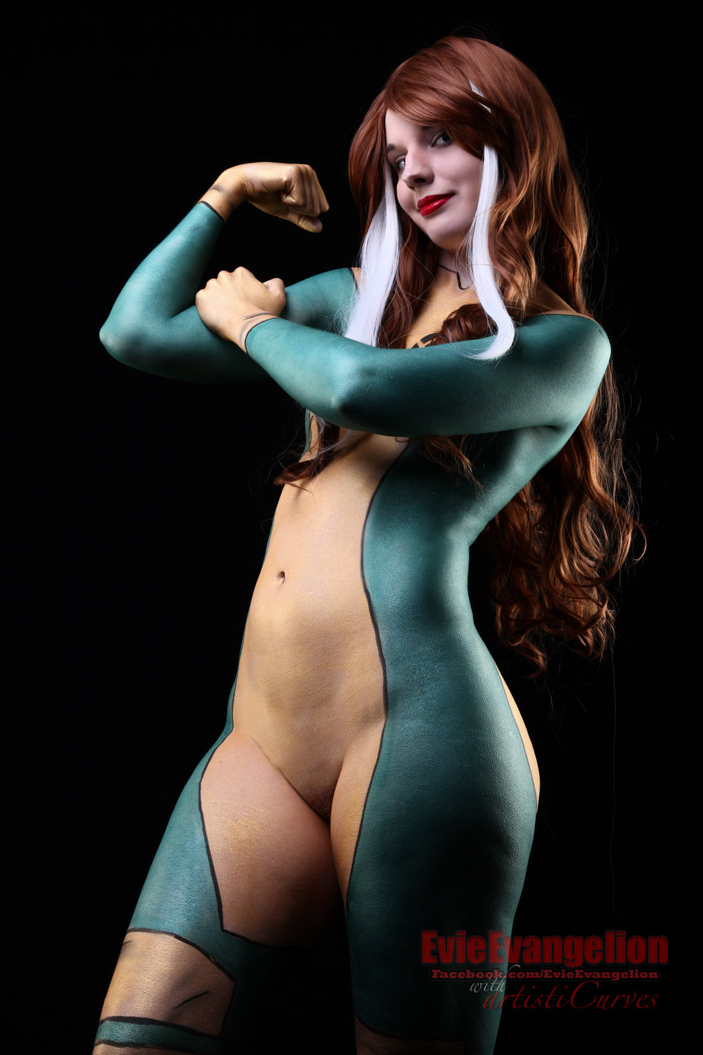 naked body paint cosplay