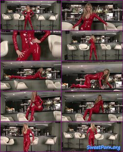 Natalie – Red Latex Catsuit