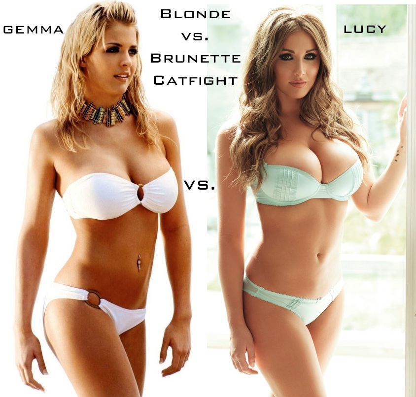 Blonde vs brunette catfight