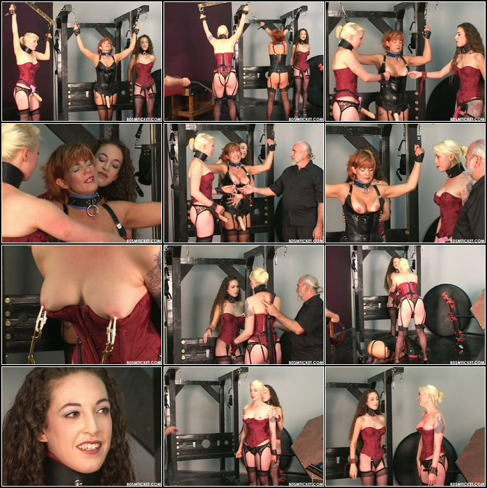 Slave Girls Clamped And Flogged