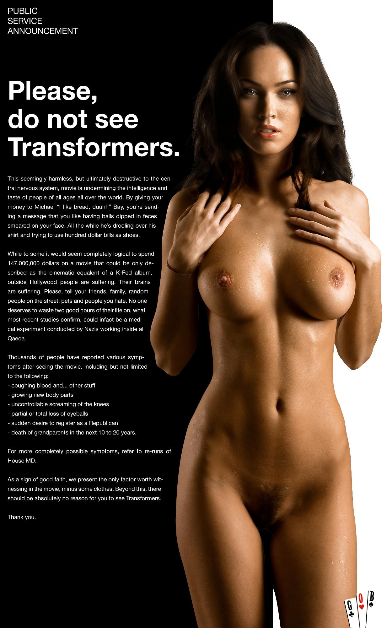 Transformer slut megan fox fucked
