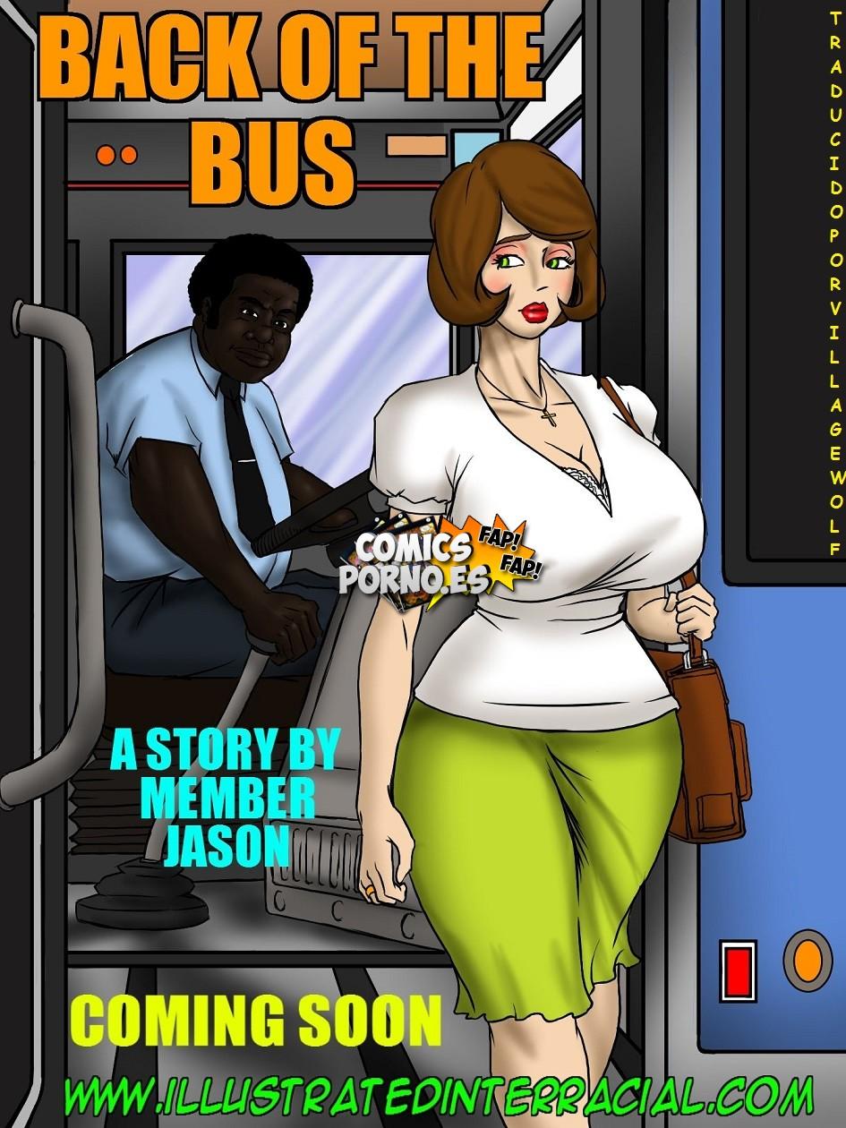 Autobus Del Porno illustrated interracial- back of the bus (español) ~ ver