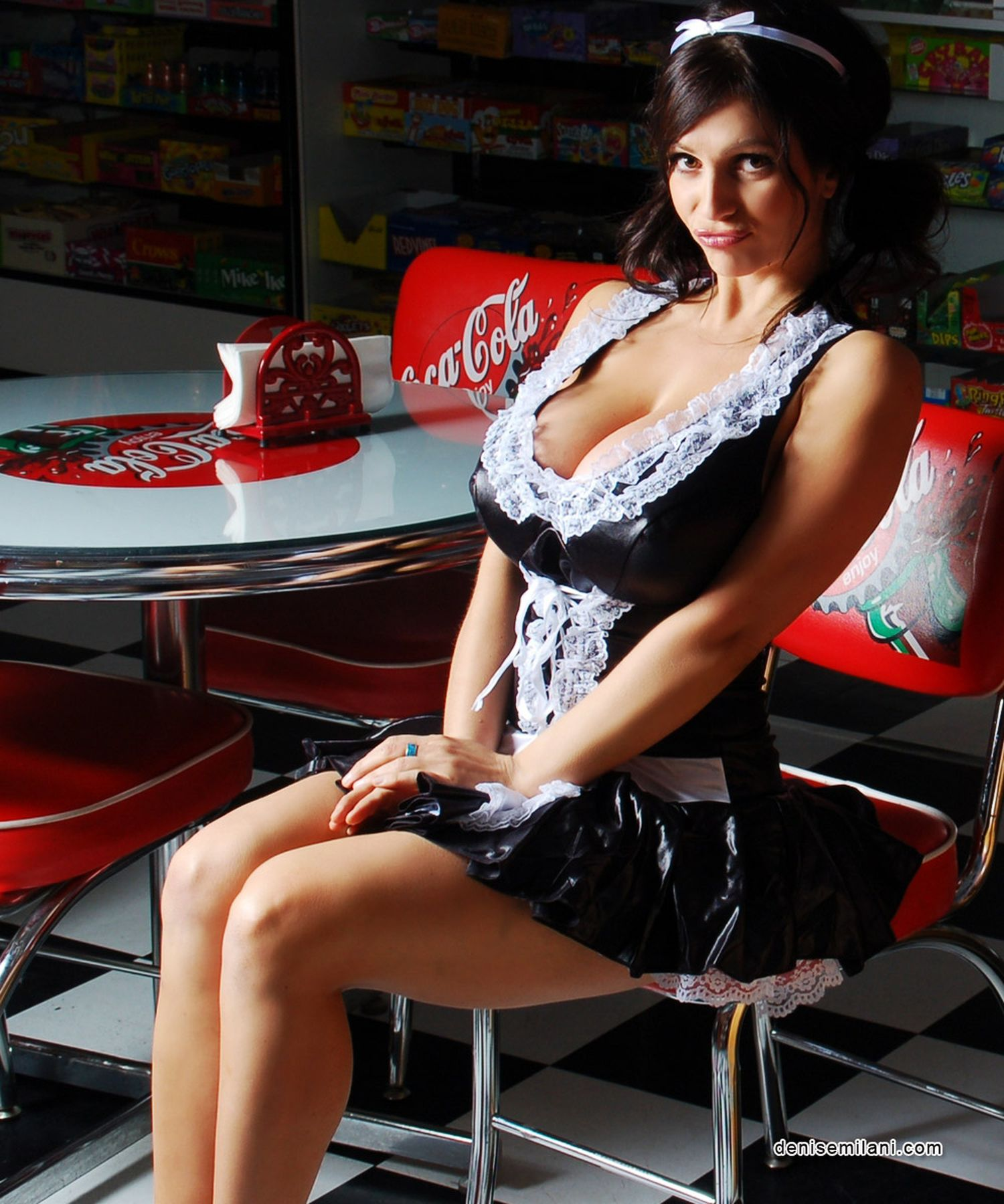 Discoball ladies french maid costume fancy sexy maid outfit cosplay dress for women